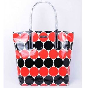 Kate Spade | Bon Shopper Tote Polka Dot Blk/Red